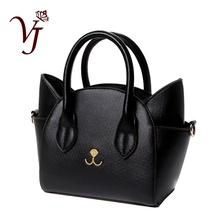 Famous Design Lovely Womens Leather Top Handle Shoulder Bags Female Cute Cat Messenger Handbags Lady Small Totes Wonderful Gift
