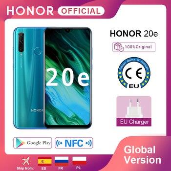 Купить Глобальная версия Honor 20e 20 e смартфон Kirin 710 Восьмиядерный 6,21 ''4 Гб 64 Гб Тройная камера мобильный телефон google Play Android