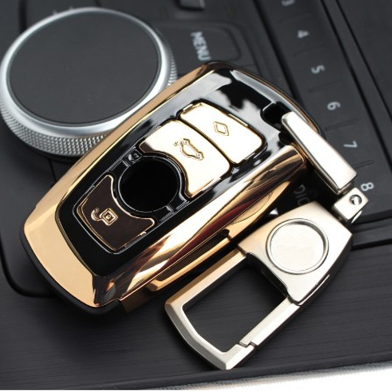 New ABS Auto Car Key Shell Case Cover Holder With Keyring For BMW F07 F10 F11 F20 F25 F26 F30 F10 E30 E38 E39 E46 E60 E83 E90