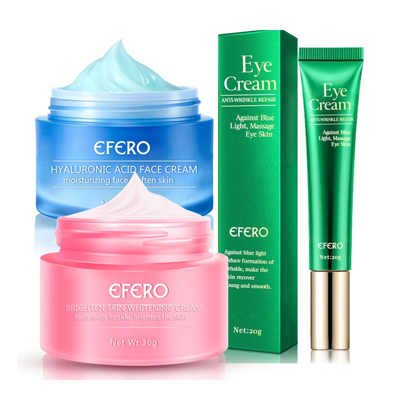Hyaluronic Acid Face Cream Skin Whitening Cream Repair Melasma Acne Dark Spots Freckle Cream Collagen Eye Cream Anti Blue Light
