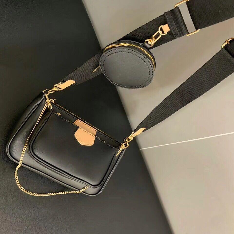 Top Quality Runway DesignerShoulder Bag Three-piece Combination Package Wide Shoulder Strap Crossbody Bags