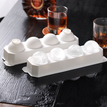 Spherical ice cube artifact made by large ice tray silicone box