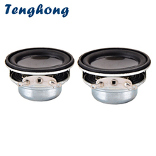 Tenghong 2pcs 36MM Mini Audio Speaker 4Ohm 3W Portable Full Frequency Speaker Unit 16 Core Rubber Edge NdFeB Magnet Loudspeakers