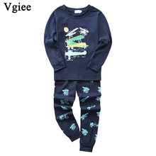 Vgiee Children Boys Girls Clothes Fall Winter Full Cotton Unisex Crtoon Pattern for Airplane Baby Kids Girl Set CC644