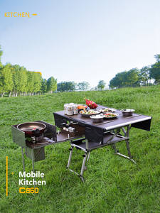 Bulin Cookware-Set Gas-Stove Foldable Cooking Mobile Kitchen Outdoor Camping Picnic