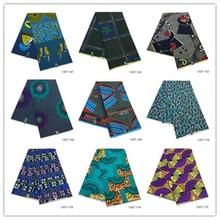 2019 Ankara African Polyester Wax Prints Fabric Binta Real High Quality 6 yard for Party Dress 1307