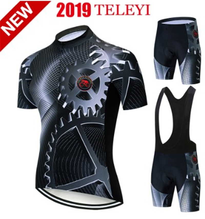 2019 TELEYI Cycling Complete Jersey Summer cycling <font><b>Wear</b></font> Mountain <font><b>Bike</b></font> <font><b>Bike</b></font> <font><b>Bike</b></font> clothes MTB <font><b>Bike</b></font> clothes <font><b>Bike</b></font> clothes image