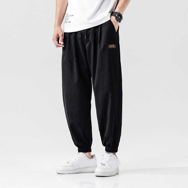 Pantalones Harem casuales para hombres, pantalones para correr, pantalones sueltos para hombres, pantalones tradicionales chinos Harajuku 2020, ropa de verano