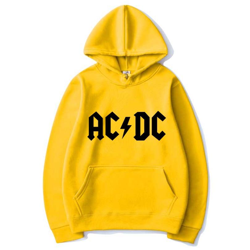 Novo 2020 venda quente outono masculino ac dc padrão impressão shooded rua esportes jaqueta casual moda com capuz