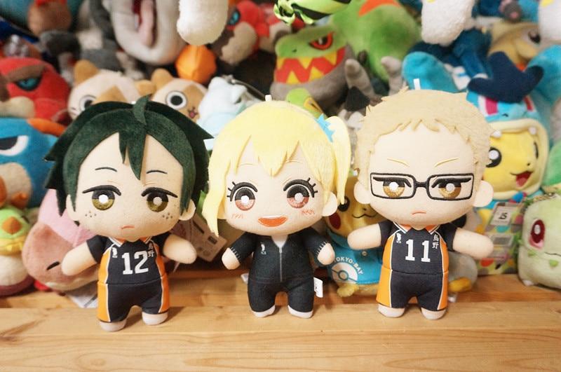 2020 Original 15cm Haikyuu! Anime Plush Toy Stuffed Toy Tsukishima Kei Yamaguchi Tadashi Sawamura Daichi Anime Toys Gift Doll