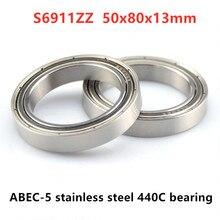 10 шт. ABEC-5 S6911ZZ S6911-2Z 50*80*13 мм нержавеющая сталь 440C глубокий шаровой подшипник 6911 50x80x13 мм