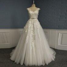 Винтажное свадебное платье трапециевидной формы с 3d кружевными