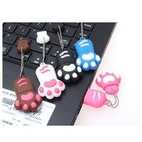 קריקטורה USB כונני פלאש 64GB חתול Paw pendrive 4GB 8GB 16GB 32GB זיכרון מקל חמוד בעלי החיים עט כונן 128GB 256GB מתנות