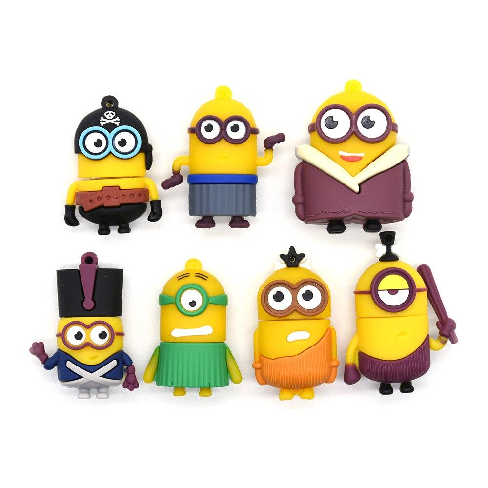Pendrive 4GB 8GB 16GB 32GB 64GB 128GB 256GB Minions Usb Flash Drive Cartoon U Stick Meory Sitck Best Gift For Children