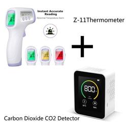 Analisador inteligente da umidade da qualidade do ar tft da tela colorida do índice da concentração do gás do detector de co2 do dióxido carbono