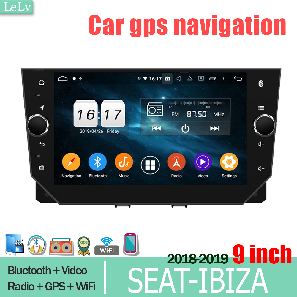 lelv DVD CAR <font><b>SEAT</b></font>-<font><b>Ibiza</b></font> <font><b>2018</b></font> 2019 9 inch car screen Android Multimedia Player and carplay monitor GPS navigation wifi <font><b>Radio</b></font> piay image