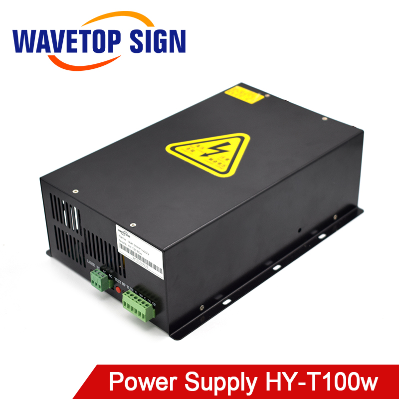WaveTopSign 80W-100W CO2 Laser Power Supply Source For CO2 Laser Engraving Cutting Machine HY-T100 Long Warran