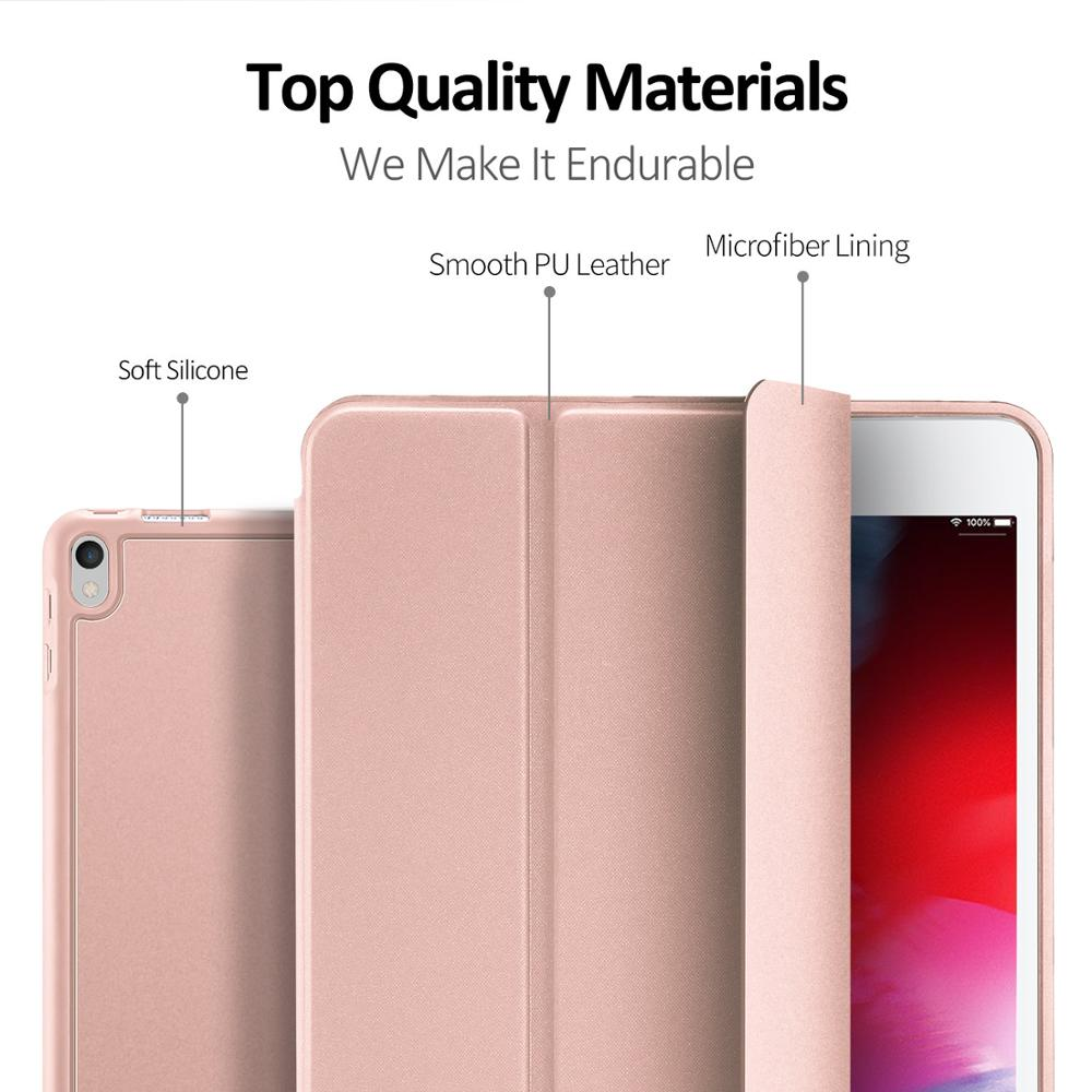 For Apple ipad Air 3 2019 Simple PU Leather Case Tablets Smart Slim Flip Folding For Apple ipad Pro 10 5 inch Cover Case in Tablets e Books Case from Computer Office