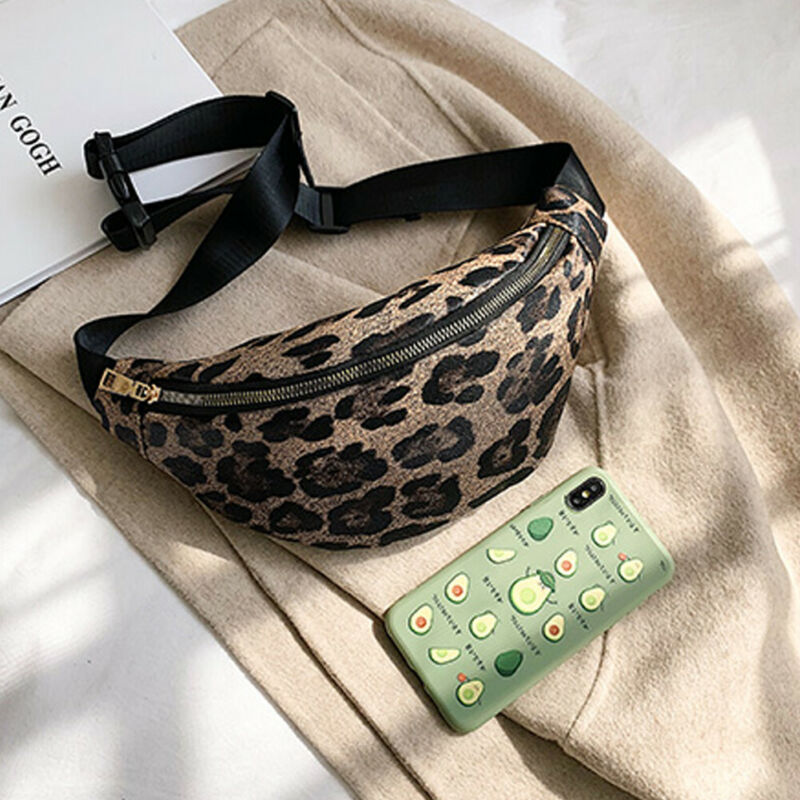 Women PU Waist Bag Fanny Pack Belt Bag Travel Sport Hip Bum Bag Small Chest Bag