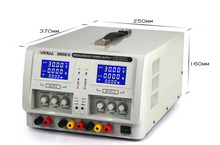 цена на YIHUA 3005D-II Dual Channel Output Regulated DC Power Supply Variable 0-30V 0-5A Adjustable Voltage Supply