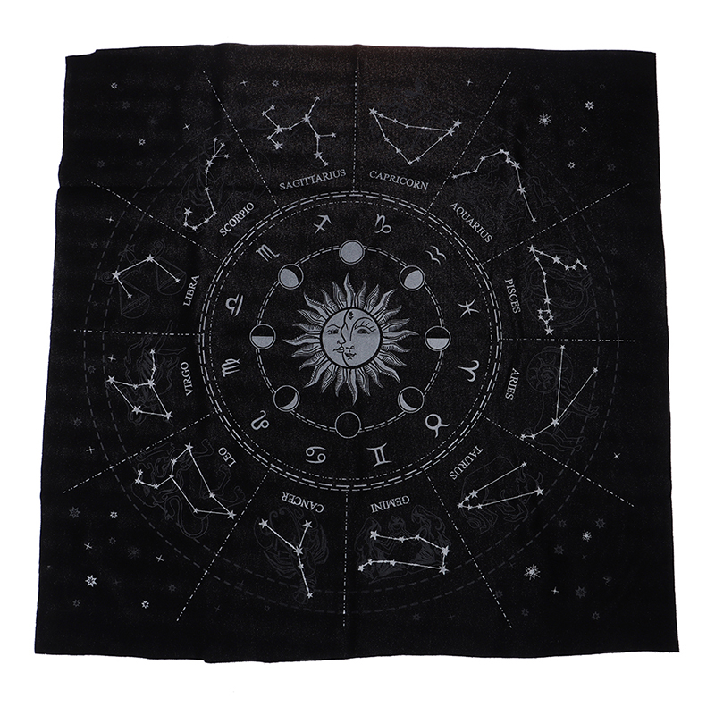 12 Constellations Tarot Card Special Tablecloth Astrology Tarot Divination Cards Table Cloth Tarot Card Storage Bag Toy Home