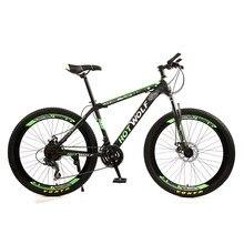Велосипед с рамой для взрослых, колеса 26 дюймов, 24 скорости, Высокоуглеродистая Сталь, двойной дисковый тормоз, горный велосипед