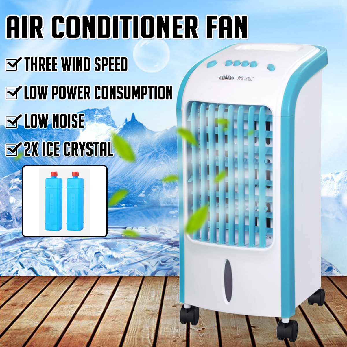 Portable Air Conditioners Air Fan Refrigerator Ice Crystal Fan Humidifier Cooler Air Conditioner Cooling Fan Humidifier
