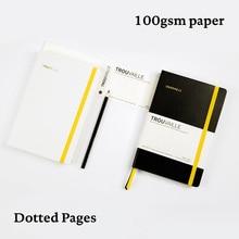 โน้ตบุ๊กDot Grid Journal A5สมุดบันทึกหนาTravel Diary Planner