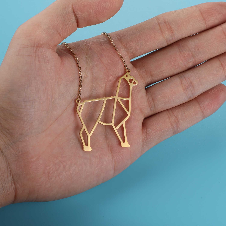 100% prawdziwe ze stali nierdzewnej 40cm naszyjnik z alpaki Super jakość Trend biżuteria naszyjniki moda zwierząt wisiorek naszyjniki