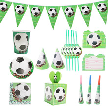 Football Theme Party Disposable Tableware Plates Napkins Bags Straw for Happy Birthday  Baby Shower Decoration Supplies
