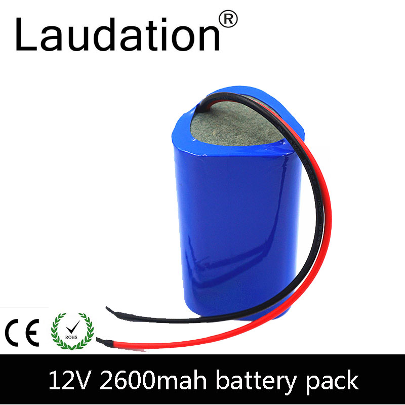 laudation 12V 2600mAh <font><b>Battery</b></font> <font><b>Pack</b></font> 12V 18650 <font><b>battery</b></font> <font><b>pack</b></font> <font><b>3S</b></font> 1P 12.6V Rechargeable <font><b>Batteries</b></font> For Portable Charger/LED/ Hot Sale image