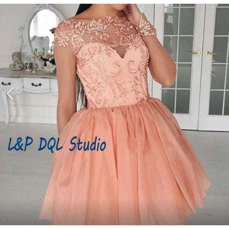 Sexy Short Prom  Dresses Pleats Tulle Bottom Ball Gown Party Dress High Waist Zipper Back