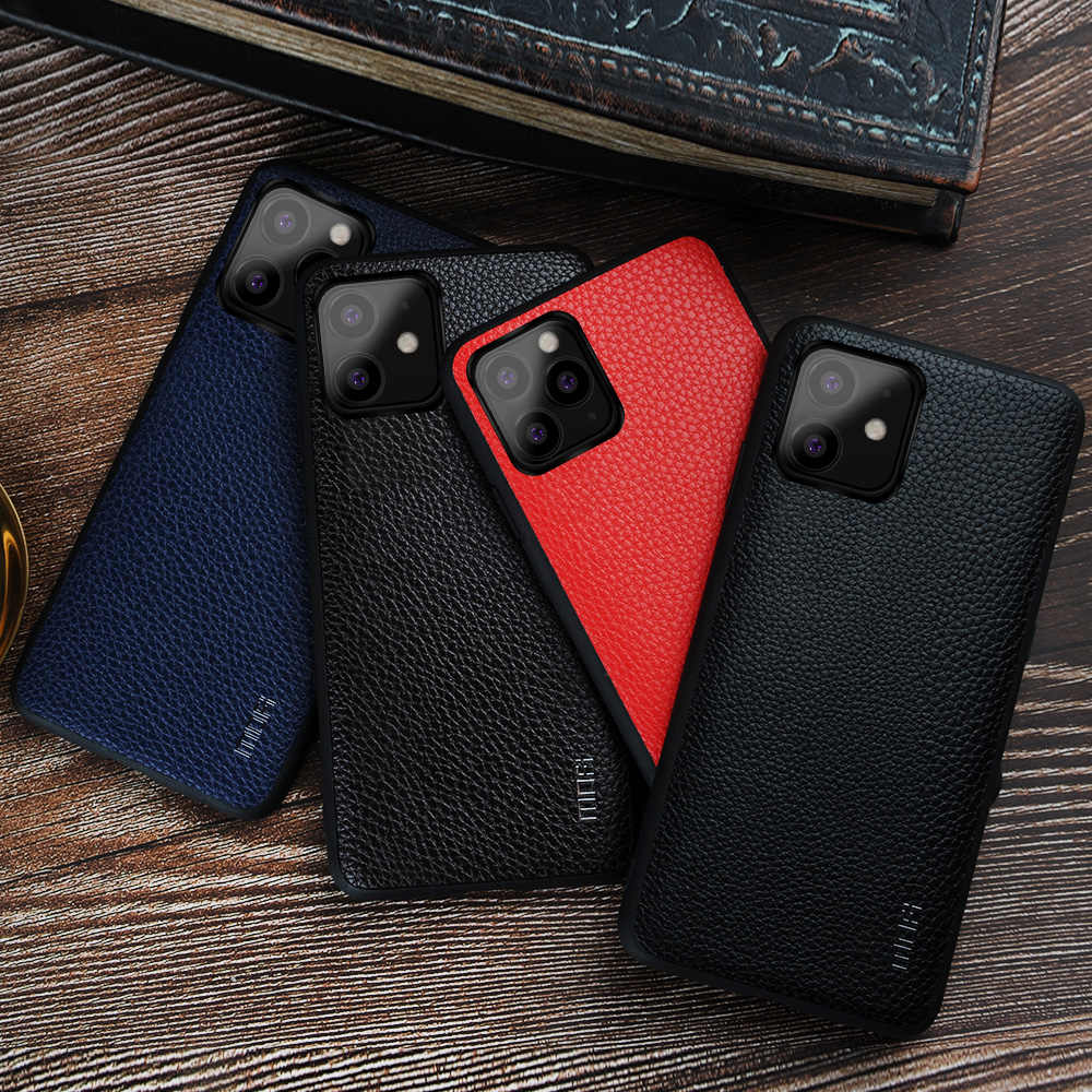 Mofi caso para iphone 11 silicone não-silp capa para iphone 11 pro couro moda caso para iphone 11 pro max capa
