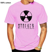 T Shirt Men's Vintage Stalker Radiation Symbol Game Men Casual Tee Shirts Men 100% Cotton Short Sleeve Tshirt New Brand T-Shirt