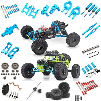 Wltoys 12428 12423 RC Car all upgrade metal parts RC truck Front Rear Differential Gear 12428-0004/0005/0006 12428 parts new high quality 540 motor and 17t motor gear set for wltoys 12428 12423 1 12 rc car spare parts