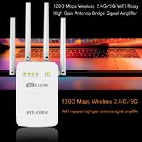 1200Mbps אלחוטי WiFi משחזר 2.4G/5G Gsm משחזר טלפון נייד רווח גבוה אנטנת גשר אות סלולארי מגבר-במגברי אות מתוך טלפונים סלולריים ותקשורת באתר