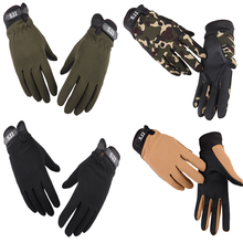 Winter Cycling Gloves Men Bicycle Motorcycle Riding Racing Gloves Antiskid Screen Touch Outdoor Sports Tactical Protect Gear