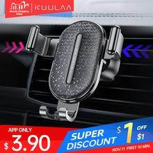 KUULAA 자동차 전화 홀더 중력 스탠드 모바일 지원 홀더 자동차 전화 마운트 홀더 스탠드 아이폰 삼성 Xiaomi