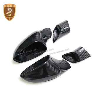 Car Styling Auto Accessories Dry Carbon Fiber Car Side View Mirror Covers for ferrari 488