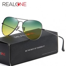 Unisex Pilot Day-Night Glasses with Tinted Polarized Lenses for Women and Men Fishing Sunglasses At Night Vision Glasses 3025