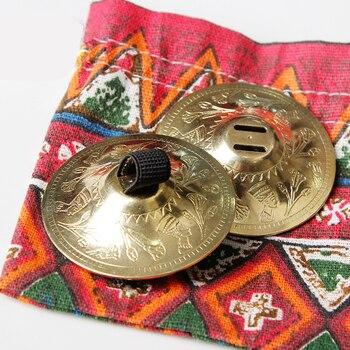 2 Pair SAROYAN Nefertiti Women Belly Dance Accessories Finger Cymbals BRASS Belly Dance Zills