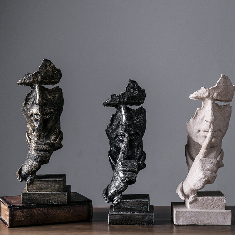 2019 Fashion European Modern Minimalist Living Room Decoration Decoration Crafts Home Furnishing Abstract Art Sculpture Figures