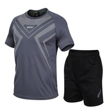 Men Casual Two Pieces Suit Summer Set Short Sleeve T-shirt Male Streetwear Shorts Sets Tracksuit Man Sportswear