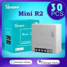 30PWholesale SONOFF  MINI R2  Wifi Mini R2  Smart Switch Two-Way Remote Control Via WIFI Hub Voice Control Via Alexa Google Home