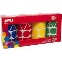 Pack de 4 Rollo de gomets XL 5428 uds Multicolor