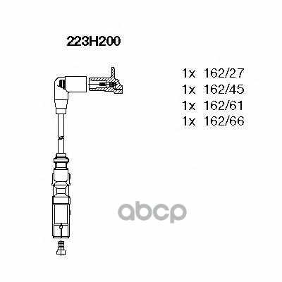 Комп.проводов VW Golf IV/Bora/Polo/AUDI A3/Skoda Octavia 1.6 mot.AEH/APF/AKL/AUR/AFT BREMI арт. 223H200
