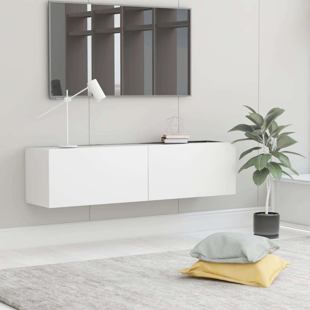 TV cabinet White 120x30x30 cm chipboard