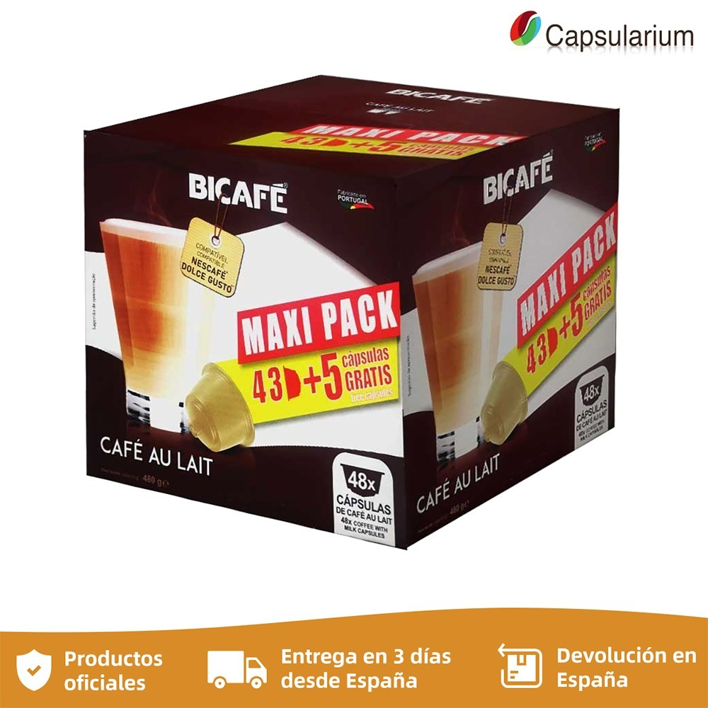 MAXI PACK coffee milk Bicafé 48 compatible capsules Dolce Gusto