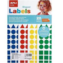 Bolsa A4 gomets 20 mm colores surtidos 20 hojas Multicolor