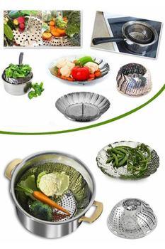 Kosz do gotowania warzyw na parze ze stali nierdzewnej tanie i dobre opinie HAYATINIZI KOLAYLAŞTIRIN TR (pochodzenie) Części do parowaru